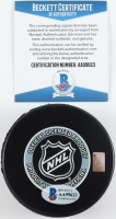 "Bobby Hull Signed Blackhawks Logo Hockey Puck Inscribed ""HOF 1983"" (Beckett COA) at PristineAuction.com"