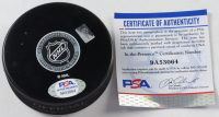 Mike Richter Signed Rangers Logo Hockey Puck (PSA COA) at PristineAuction.com