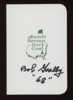 """Bob Goalby Signed Augusta National Golf Club Score Card Inscribed """"68"""" (JSA COA) at PristineAuction.com"""