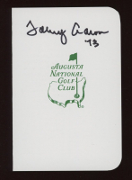 """Tommy Aaron Signed Augusta National Golf Club Score Card Inscribed """"73"""" (JSA COA) at PristineAuction.com"""