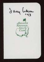 """Tommy Aaron Signed Augusta National Golf Club Score Card Inscribed """"'73"""" (JSA COA) at PristineAuction.com"""