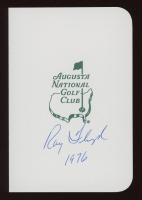 """Raymond Floyd Signed Augusta National Golf Club Score Card Inscribed """"1976"""" (JSA COA) at PristineAuction.com"""