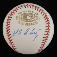Magglio Ordonez Signed 2006 World Series Logo Baseball (JSA COA) at PristineAuction.com