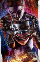 "Greg Horn Signed ""Harley Quinn"" 11x17 Photo (JSA COA) at PristineAuction.com"