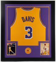 Anthony Davis 31x35 Custom Framed Jersey Display at PristineAuction.com