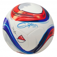 """Christie Rampone Signed Adidas Soccer Ball Inscribed """"USA"""" (Fanatics Hologram) at PristineAuction.com"""