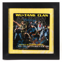 """Wu-Tang Clan 19x19 Custom Framed """"It's Yourz"""" Vinyl Record Album Group-Signed by (7) with Method Man, RZA, GZA, U-God (Beckett LOA) (See Description) at PristineAuction.com"""