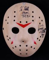 "Kane Hodder & Warrington Gillette Signed ""Friday the 13th"" Mask Inscribed ""Jason II"" & ""Jason 7, 8, 9, X"" (Legends COA) at PristineAuction.com"