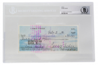 Carrie Fisher Signed 1980 Personal Bank Check (BGS Encapsulated) at PristineAuction.com