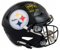 """Troy Polamalu Signed Steelers Full-Size Authentic On-Field SpeedFlex Helmet Inscribed """"HOF 20"""" (Beckett Hologram) at PristineAuction.com"""