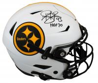 "Troy Polamalu Signed Steelers Full-Size Authentic On-Field Lunar Eclipse Alternate SpeedFlex Helmet Inscribed ""HOF 20"" (Beckett Hologram) at PristineAuction.com"