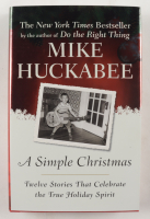 """Mike Huckable Signed """"A Simple Christmas"""" Hardcover Book (JSA COA) at PristineAuction.com"""