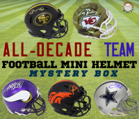 Schwartz Sports All-Decade Team Football Mini Helmet Signed Mystery Box – Series 1 (Limited to 100) (ALL Players Are Either 1st or 2nd All Decade Team Members) at PristineAuction.com