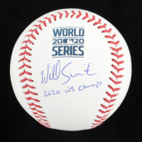 """Will Smith Signed 2020 World Series Baseball Inscribed """"2020 WS Champs"""" (MLB Hologram) at PristineAuction.com"""