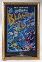"Disneyland's ""Buzz Lightyear Astro Blasters"" 14x21 Print Display with Buzz Lightyear Astro Blasters Ride Pin at PristineAuction.com"