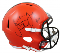 """Jeremiah Owusu-Koramoah Signed Browns Full-Size Speed Helmet Inscribed """"Welcome to the Dawg Pound"""" (Beckett Hologram) at PristineAuction.com"""