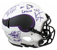 """Randy Moss, Cris Carter & Adrian Peterson Signed Vikings Full-Size Authentic On-Field Lunar Eclipse Alternate Speed Helmet Inscribed """"All I Do Is Catch TD's"""", """"Straight Cash Homie"""" & """"All Day"""" (Beckett Hologram) at PristineAuction.com"""