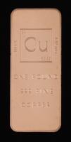 One Pound .999 Fine Copper Periodic Table Design Bullion Bar at PristineAuction.com