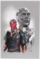 Tony Santiago - Vision - Marvel Comics 13x19 Signed Lithograph (PA COA) at PristineAuction.com