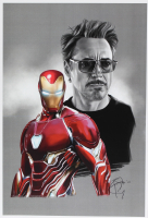 Tony Santiago - Iron Man - Tony Stark - Marvel Comics 13x19 Signed Lithograph (PA COA) at PristineAuction.com