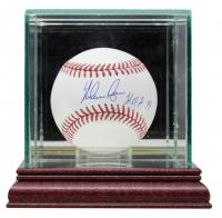 "Nolan Ryan Signed OML Baseball Inscribed ""H.O.F. 99"" with Display Case (Beckett COA, AIV Hologram & Ryan Hologram) at PristineAuction.com"