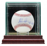 """Nolan Ryan Signed OML Baseball Inscribed """"7 No Hitters"""" with Display Case (Beckett COA, AIV Hologram & Ryan Hologram) at PristineAuction.com"""