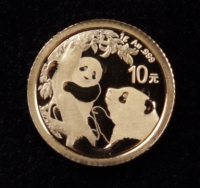 2021 1g Chinese Panda Gold Coin at PristineAuction.com