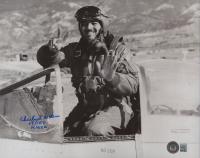 """Charles McGee Signed 8x10 Photo Inscribed """"67 F.B.S. Korea"""" (Beckett COA) at PristineAuction.com"""