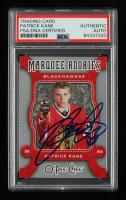 Patrick Kane Signed 2007-08 O-Pee-Chee #518 RC (PSA Encapsulated) at PristineAuction.com