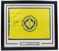 Jack Nicklaus Signed Memorial Tournament 20x30 Custom Framed Flag Display (Beckett Hologram) at PristineAuction.com