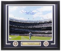 "Mariano Rivera Signed Yankees 22x27 Custom Framed Photo Display Inscribed ""Enter Sandman"" (JSA COA) at PristineAuction.com"