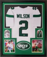 Zach Wilson Signed 34x42 Custom Framed Jersey (Beckett Hologram) at PristineAuction.com