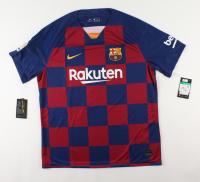 "Lionel Messi Signed FC Barcelona Jersey Inscribed ""Leo"" (Beckett COA) (See Description) at PristineAuction.com"