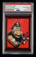 Hulk Hogan Signed 2013 TRISTAR TNA Impact Live Red #100 Caricature #2/10 (PSA Encapsulated) at PristineAuction.com