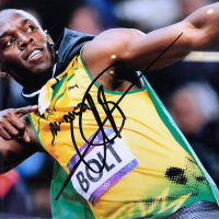 Usain Bolt Signed 20x24 Custom Framed Photo Display (JSA COA) at PristineAuction.com