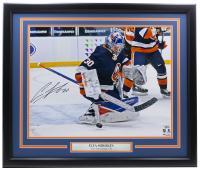 Ilya Sorokin Signed Islanders 22x27 Custom Framed Photo Display (Fanatics Hologram) at PristineAuction.com