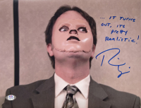 """Rainn Wilson Signed """"The Office"""" 11x14 Photo Inscribed """"It Turns Out, It's Pretty Realistic"""" (PSA COA) at PristineAuction.com"""