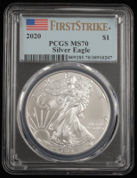2020 American Silver Eagle $1 One Dollar Coin - First Strike (PCGS MS70) (See Description) at PristineAuction.com