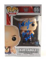 "Kurt Angle Signed WWE #55 Funko Pop! Vinyl Figure Inscribed ""HOF 2017"" (JSA COA) (See Description) at PristineAuction.com"