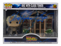 """Christopher Lloyd Signed """"Back To The Future"""" #15 Doc With Clock Tower Funko Pop! Vinyl Figure (JSA COA) at PristineAuction.com"""
