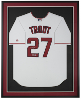 Mike Trout Signed Angels 32x36 Custom Framed Angels Jersey Display (Beckett LOA & MLB Hologram) at PristineAuction.com