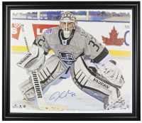 Jonathan Quick Signed Kings 22x26 Custom Framed Photo Display (Steiner Hologram) at PristineAuction.com