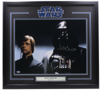 "David Prowse Signed ""Star Wars"" 24x30 Custom Framed Photo Display Inscribed ""Darth Vader"" (Beckett COA) at PristineAuction.com"