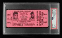 1965 Muhammad Ali vs Sonny Liston Boxing Ticket (PSA Encapsulated 8) at PristineAuction.com