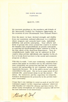 Gerald Ford Signed Typed Letter (JSA COA) at PristineAuction.com