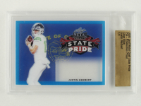 Justin Herbert 2020 Leaf Metal Draft State Pride Pre-Production Proof Clear Blue #1/1 (Leaf Encapsulated) at PristineAuction.com