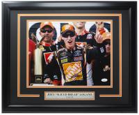"Joey ""Sliced Bread"" Logano Signed NASCAR 16x20 Custom Framed Photo Display (JSA COA) at PristineAuction.com"