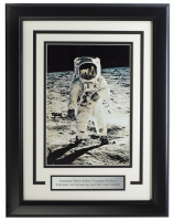 """""""Edwin Aldrin On The Moon"""" 10x10 Custom Framed Photo at PristineAuction.com"""