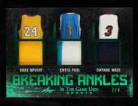 Kobe Bryant / Chris Paul / Dwyane Wade 2020 ITG Used Sports Breaking Ankles Triple Memorabilia Emerald #BA02 #2/4 at PristineAuction.com