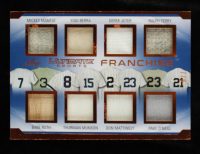 Mickey Mantle/Babe Ruth/Yogi Berra/Thurman Munson/Derek Jeter/Don Mattingly/Ralph Terry/Paul O'Neill 2019 Leaf Ultimate Sports The Ultimate Franchise Materials Bronze Spectrum Foil #UF05 #7/9 at PristineAuction.com